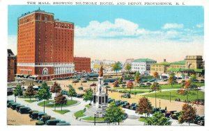 USA Rhode Island Providence The Mall, Showing Biltmore Hotel and Depot 06.54