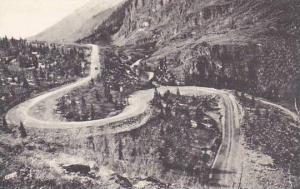 Colorado Ouray Serpentine Drive On Million Dollar Highway Albertype