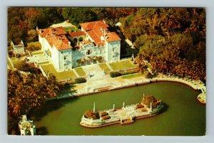 Miami FL- Florida, James Deering Home, Dade Co Art Museum, Chrome Postcard