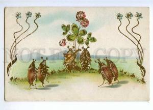 189489 Musician MAY BEETLE Golden Phyllophaga Vintage postcard