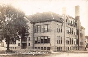 Montgomery Minnesota Sherman High School Real Photo Antique Postcard K70448