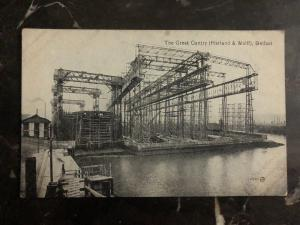 Mint Belfast England RPPC Postcard The Great Gantry Harlan & Wolff