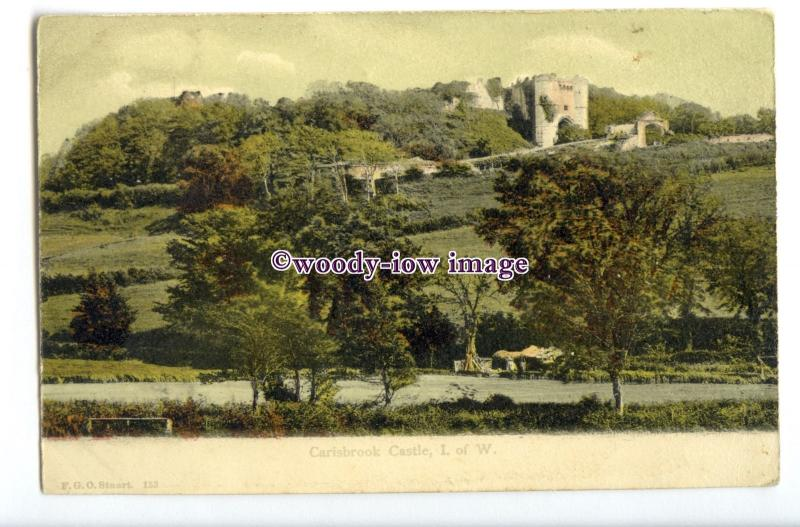 h1750 - Isle of Wight - Looking over to Carisbrooke Castle - FGO Stuart Postcard