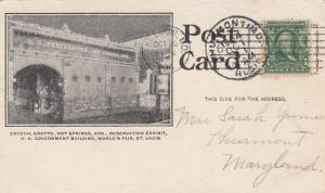 HOT SPRINGS , Arkansas, 1904 ; Crystal Grotto
