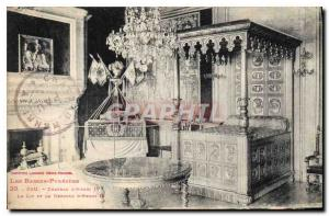 Old Postcard Pau Chateau of Henri IV The bed and cradle of Henry IV