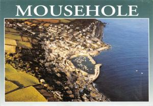 Postcard, Mousehole, Cornwall from the Air, Aerial View, Harbour, Boats, Coast