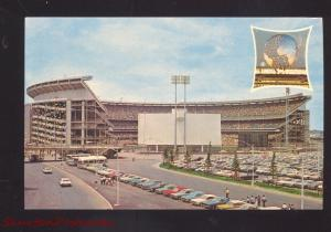 NEW YORK METS MLB BASEBALL SHEA STADIUM VINTAGE POSTCARD SPORTS 1960's CARS