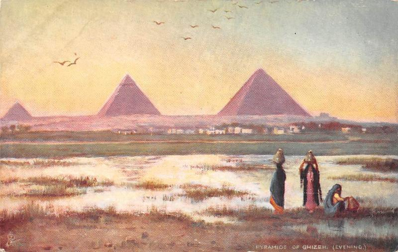 Picturesque Egypt, Giza Pyramid, Pyramids of Ghizeh, Evening