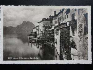 Switzerland: LAGO DI LUGANO-GANDRIA - Old Real Photograph Postcard