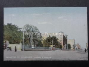 Australia MELBOURNE Swanston Street LIBRARY & HOSPITAL Old Postcard by R.E.M.