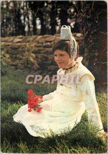 Postcard Modern Britain Quimper girl in costume Fete