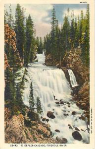 Kepler Cascade Waterfall, Firehole River Yellowstone Park WY