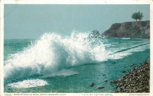 Castle Rock Surf C1910 SANTA BARBARA CALIFORNIA Phostint Detroit Publishing 4918