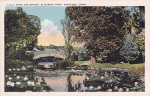 Lilly Pond And Bridge Elizabeth Park Hartford Connecticut