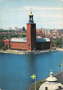 Sweden Old Vintage Antique Post Card Stadshuset, Town Hall Stockholm Unused