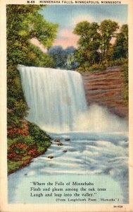 Minnesota Minneapolis Minnehaha Falls 1940 Curteich
