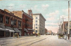 Long Beach California Street Scene Historic Bldgs Antique Postcard K54414