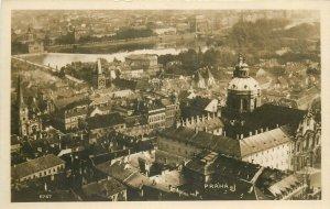 Czech R. Prague panorama photo postcard