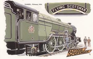 The Flying Scotsman Train Crossing The Scottish Border Restaurant Postcard