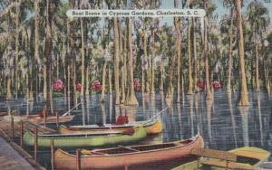 South Carolina Charleston Boat Scene In Cypress Gardens