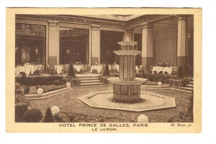 Hotel Prince de Galles, Paris , France, PU-1931; Le Jardin