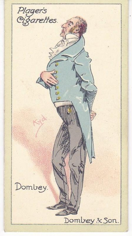 Cigarette Cards Players Characters From Dickens No 42 Mr. Dombey