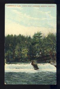 Lawrence, Massachusetts/MA/Mass Postcard, Scene Near Lawrence General Hospital