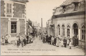 Saint-Gobain France School Children Lucas-de-Nathou Street Postcard E53