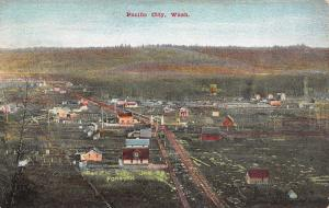 Pacific City Washington~Birdseye~Dirt Road Thru Town~Farms~Welcome Arch~1909