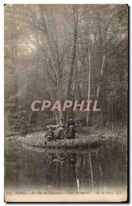 Postcard Old Wood of Paris Vincenns Island Lake Daumesnil Bercy