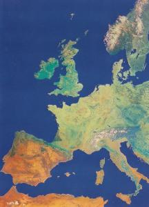 Europe Map From Space London Planetarium Astronomy London 1970s Postcard