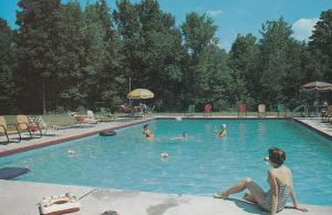 Round Top House Greene County New York Swimming Pool Hotel Postcard