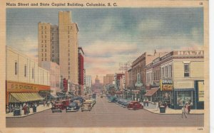 COLUMBIA , South Carolina , 1930-40s ; Main Street & State Capitol Building