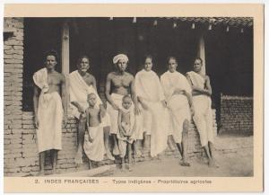 India; French India, Native Farmers PPC, Unposted, c 1910's, By Braun
