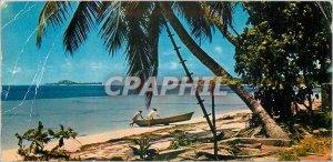 Modern Postcard Seychelles Islands Prastin off looms Isle Cousin