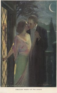AS: Crescent Moon, At the Dance, Romantic Couple, 1900-10s