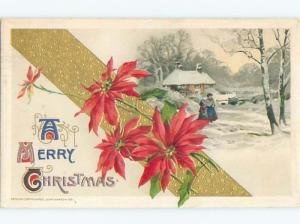 Divided-Back CHRISTMAS SCENE Great Postcard W8945