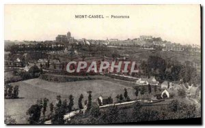 Old Postcard Panorama Mont Cassel