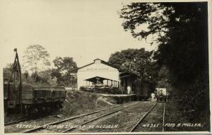 venezuela, BOCA DE SIOUIRE, Railway Station (1920s) Foto Müller RPPC Postcard