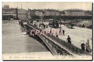 Postcard Old Lyon Pont Lafayette