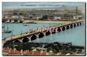 Old Postcard Bordeaux Overview Bridge