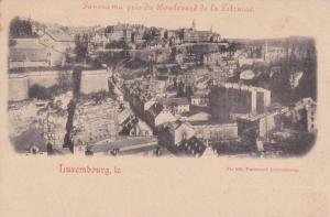 Panorama pris du Boulevard de la Strasse, Luxembourg , 1890s