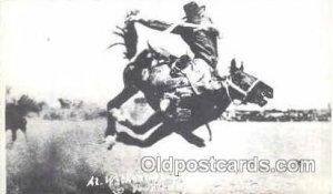 Reproduction, Al Walkenson Leaving Torpedo, Western Rodeo Unused