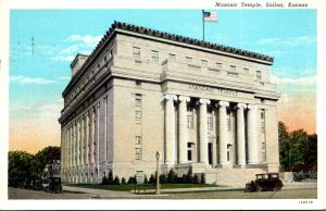 Kansas Salina Masonic Temple 1939 Curteich