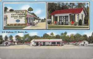 4322  GA Darien  1940's Delta Motel-Restaurant