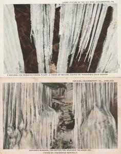 (2 cards) Nature's Wonder - Ice Mine - Cave - Coudersport PA, Pennsylvania - WB