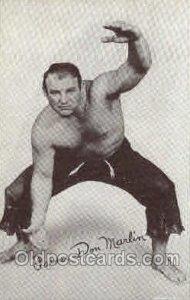 Farmer Don Marlin non postcard backing, Wrestling Unused wear on back side