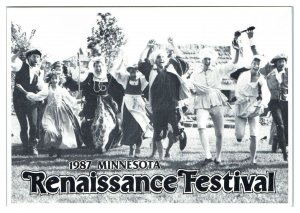 1987 Minnesota Renaissance Festival Postcard *5U(2)3