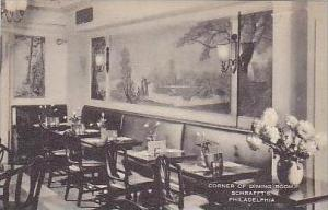 Pennsylvania Philadelphia Corner of Dining Room Interior Schraffts REstaurant...