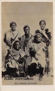 BLACK AMERICANA J.H. BALMER'S KAFFIR BOYS REAL PHOTO POSTCARD